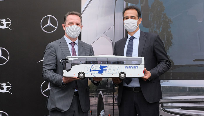 Mercedes-Benz Türk, Varan Turizm ve Grup Şirketleri ile yöneticilerinin bir araya geldiği otobüs teslimat töreni,