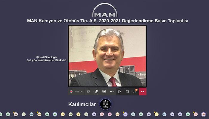MAN Kamyon ve Otobüs Ticaret A.Ş. Satış Sonrası Hizmetler Direktörü Şinasi Ekincioğlu