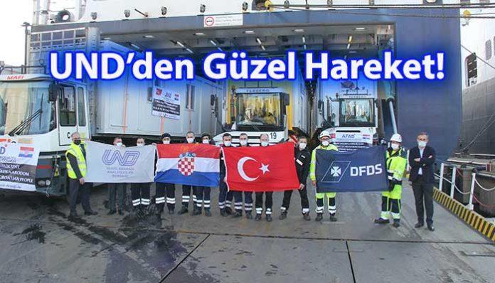 UND Yardım TIR'ı Hırvatistan