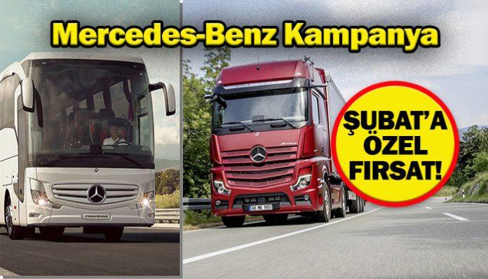 Mercedes-Benz kamyon ve otobüslerde Şubat'a özel fırsatlar