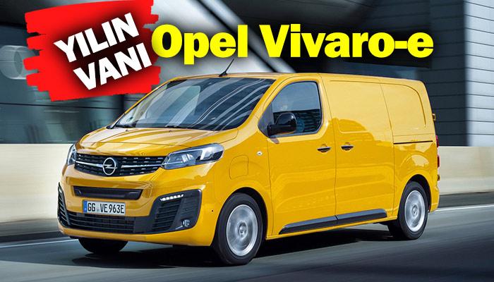 """Opel Vivaro-e Uluslararası Yılın Vanı"""" ödülünün sahibi"""