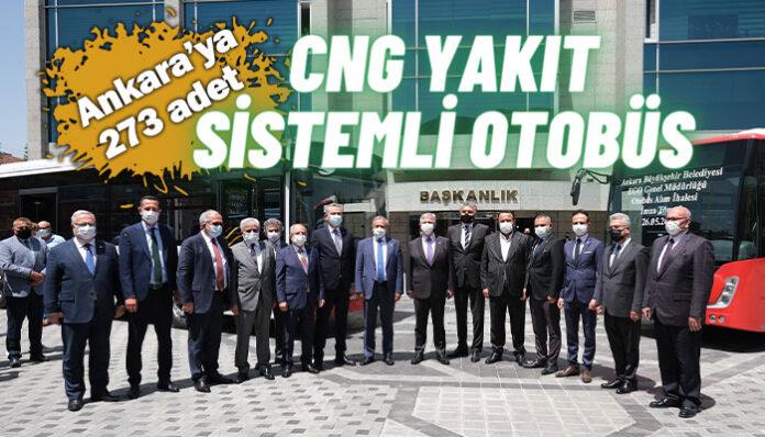 Mercedes-Benz Türk'ten Ankara Büyükşehir Belediyesi'ne CNG yakıt sistemli Conecto