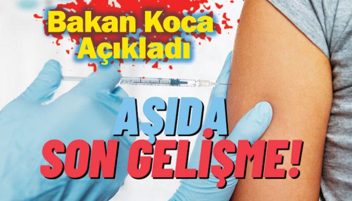 Sağlık Bakanı açıkladı: 35 yaş üstü için aşı randevuları başlıyor!