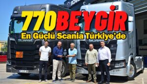 V8 motorlu Scania