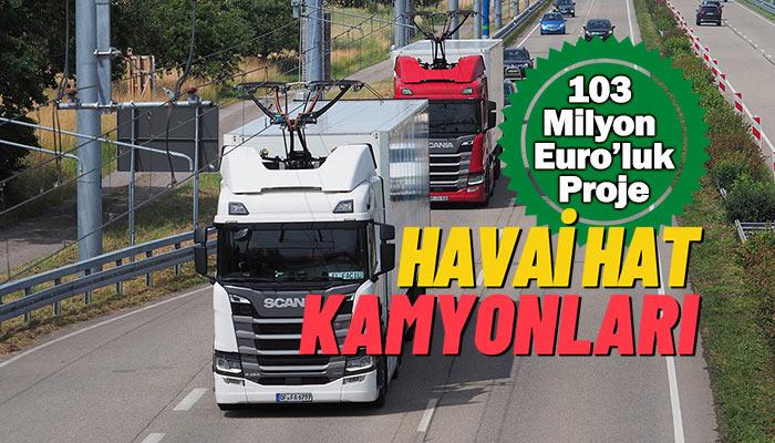 Almanya'da 3 yıl sürecek havai hat kamyonları testi başladı