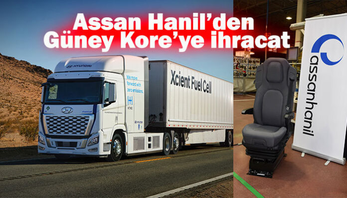 Hidrojen yakıtlı kamyonun koltukları Türkiye'den
