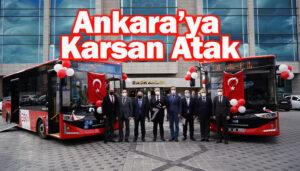 Ankara Büyükşehir Belediyesi'ne 50 adet Karsan Atak otobüs